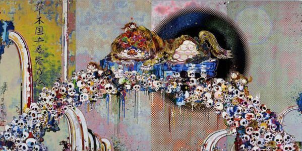 """Offset Lithograph, Measures 28"""" x 55"""", Edition 300, handsigned and numbered in the bottom corner  Takashi Murakami is one of the founding members of the Superflat movement whose pop art work has been exhibited around the world. His Kaikai Kiki workshop has spawned many younger talented artists including Aya Takano and Chiho Aoshima. This item is currently in stock. For pricing info and general inquires please contact us at webstore@giantrobot.com There is a No Returns Policy from th..."""