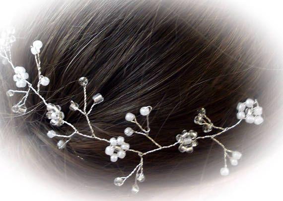 Matrimonio capelli Vine copricapo da sposa Tiara Halo