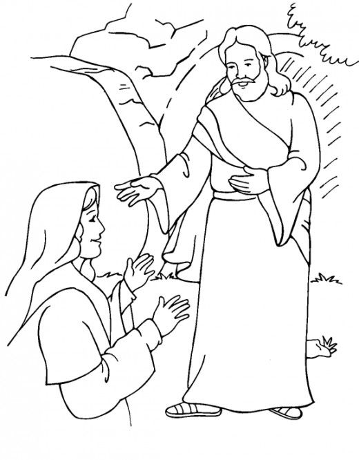easter bible coloring page
