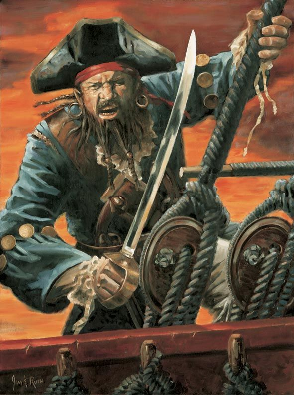 pirate art   ! We be admittin' to bein' lax in our drawin' an' paintin' o' pirates ...
