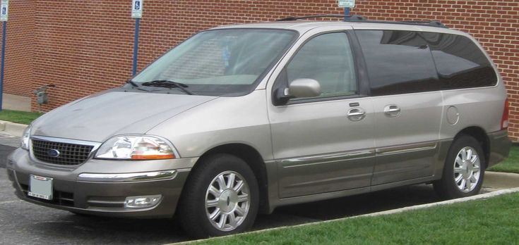 "2003 Ford Windstar -- the ""mommobile"".  Great car.  Never had a single day's problem with it.  Traded it in in 2012 for my current Edge."
