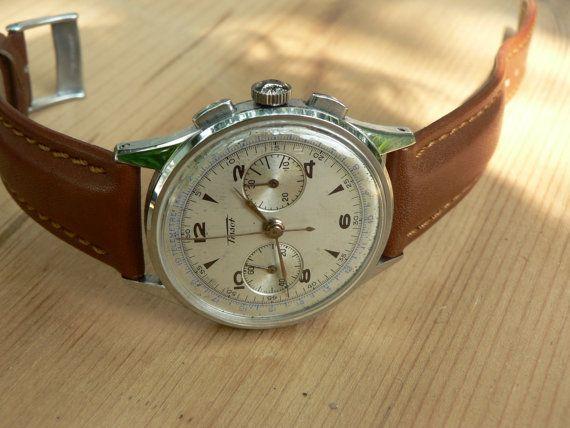 ddbbf585e Vintage Tissot Chronograph mens watch, vintage swiss watch | Watches | Vintage  watches, Watches for men, Vintage watches for men