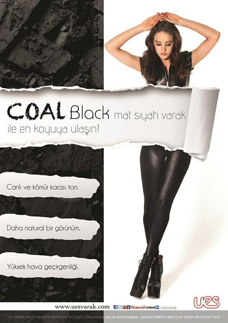 Coal Black (Matt Black) color foil