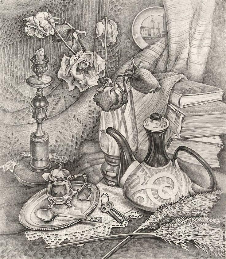 Картинки черно-белые натюрморты