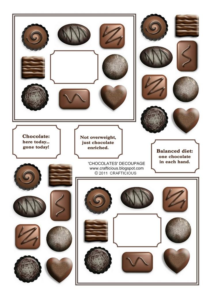 crafticious: Free Chocolates Printable