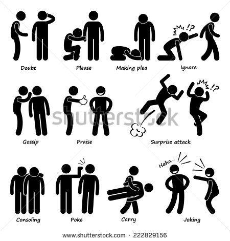 Human Man Action Emotion Stick Figure Pictogram Icons