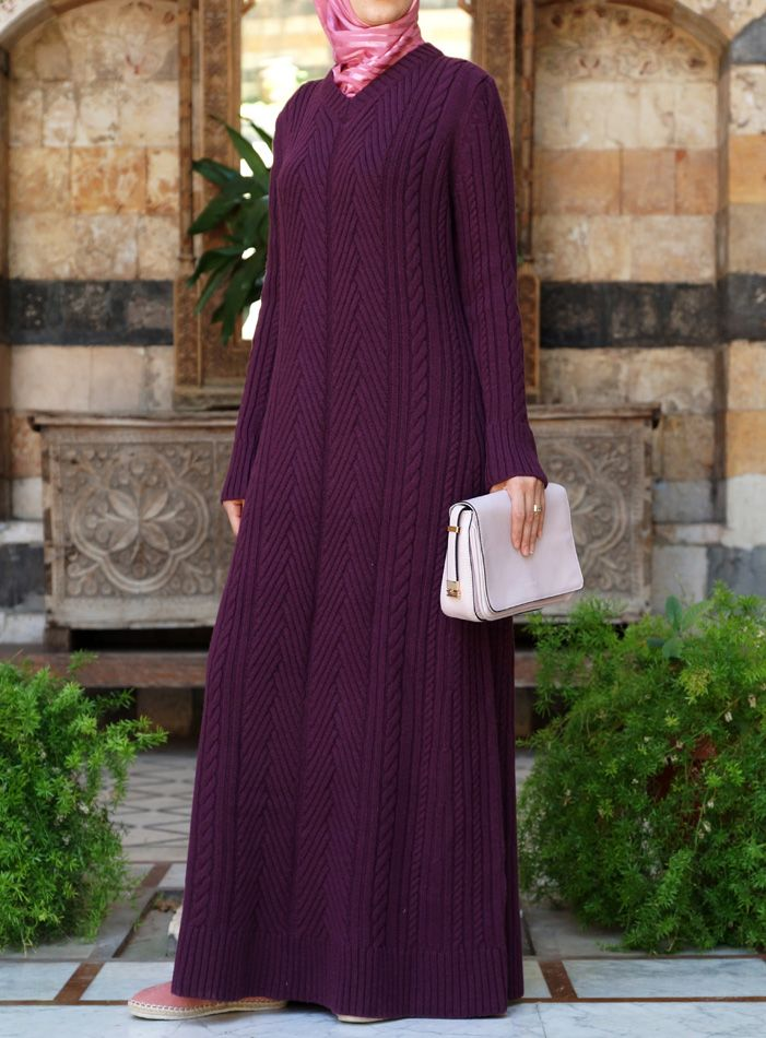 Winter Knit Dress - perfect for Hijabis in winter! From shukronline.com
