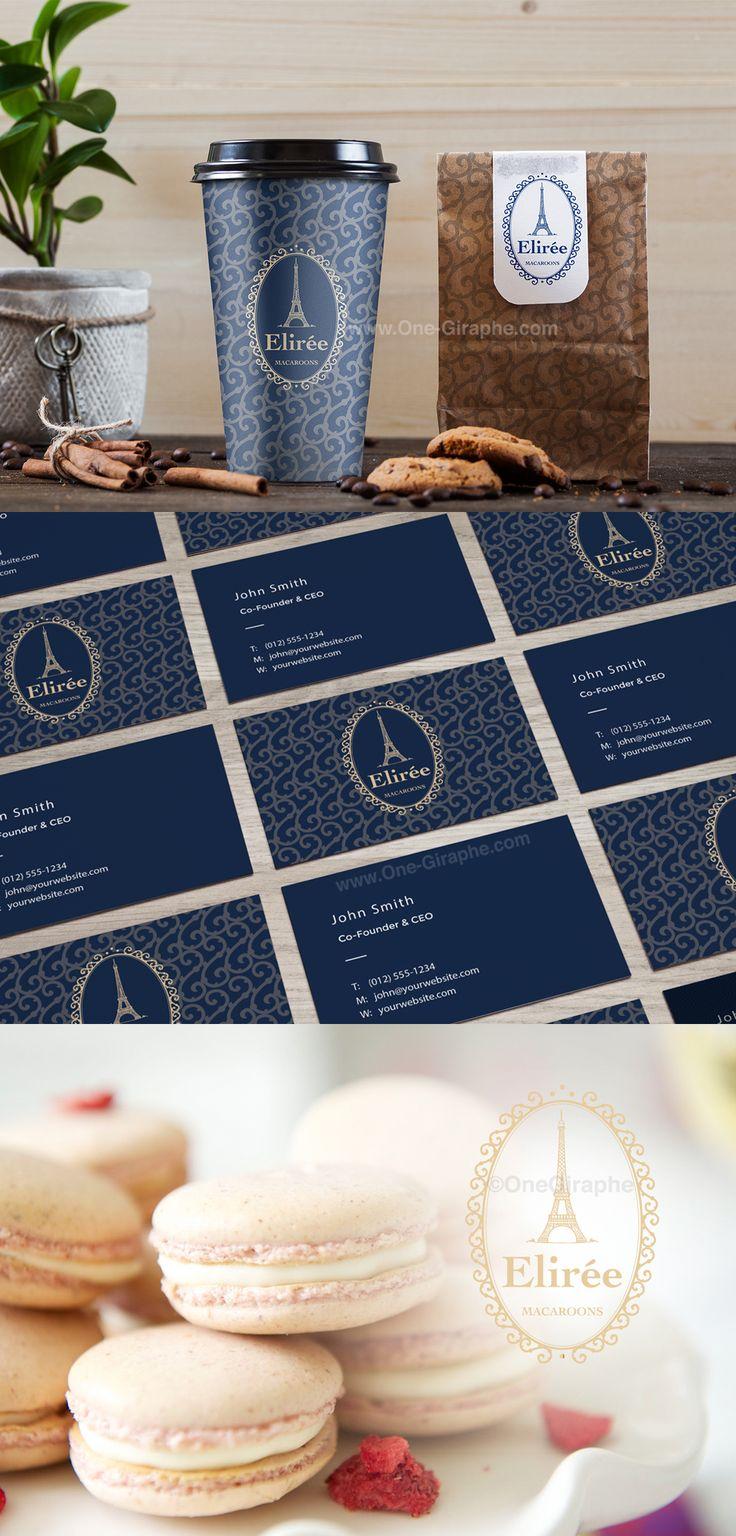 Luxury Brand Identity for sale: http://one-giraphe.com/prev.php?c=14 #brand #branding #brandidentity #logo #luxury #logodesign #paris #macarons #patisserie #bakery #bakers #etsy #logostore #logos #designer #etsyseller #gold #goldlogo #macaron