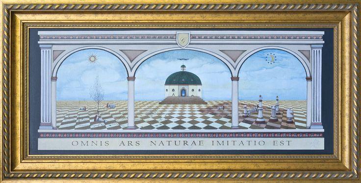 OMNIS ARS NATURAE IMITATIO EST - 2007r./2010r. Każda sztuka naśladuje naturę (120X50) ol.+pł.+deska