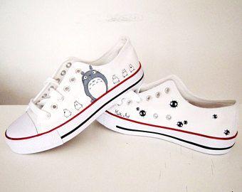 Pintado a mano de Studio Ghibli serie zapatos / zapatos de