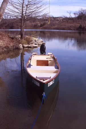 Wooden fishing boat home made