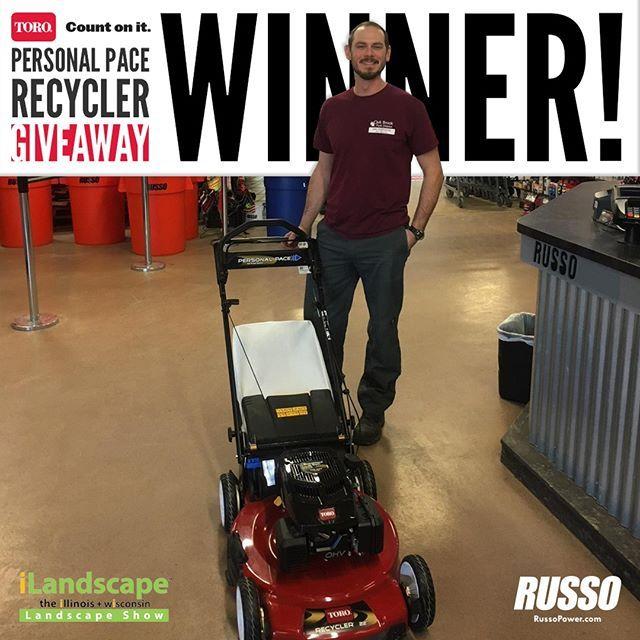 Congratulations to Jake Stachowiak the winner of our Toro mower giveaway from iLandscaper 2018!  #RussoPower #TheToroCompany #iLandscape2018 #Winning #ILCA #Landscapers_of_Instagram #LandscapersOfInstagram