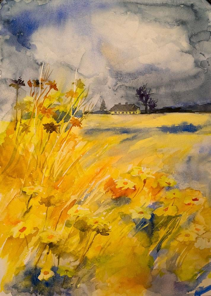 Картины (живопись) : перед грозой. Автор Татьяна Лев