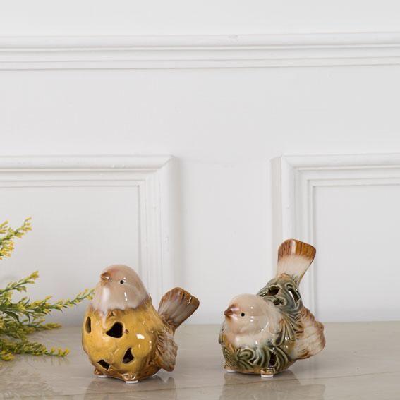 Adorable Ceramic Bird Figurine Single Green Ceramic Birds Home Decor Items Online Birds
