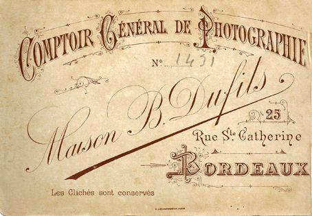 B. DUFILS - Bordeaux, Gironde