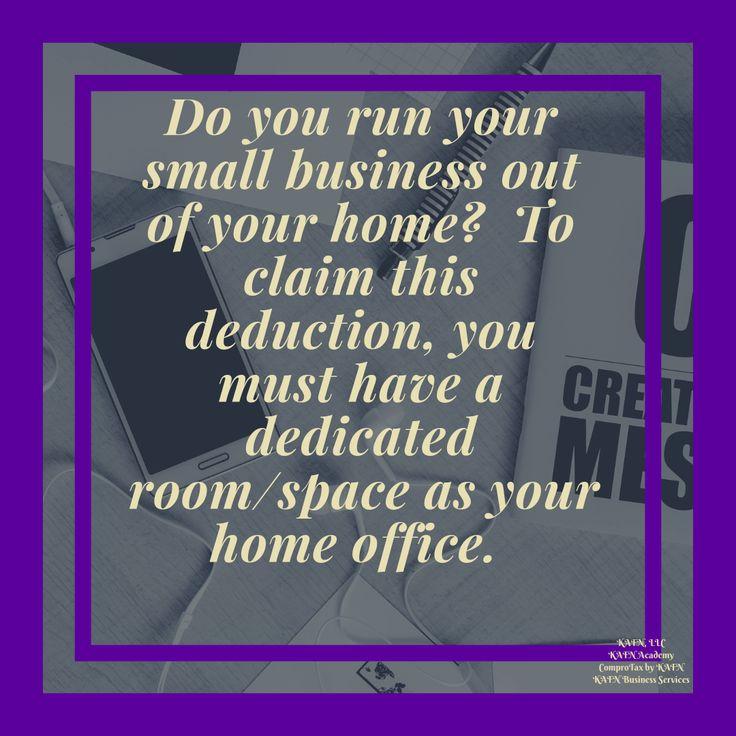 Tax Deduction For Your Home Office #kafnllc #kafnacademy