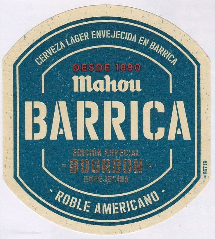 Mahou Barrica Bourbon, Imperial Pils/Strong Pale Lager 6,95% ABV (Mahou San Miguel, España) #lab