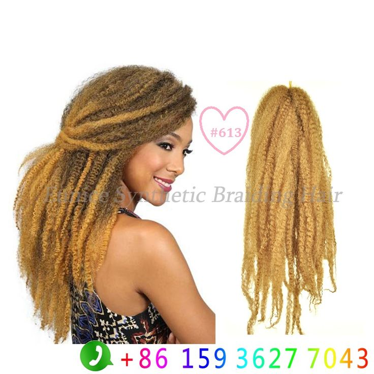 Find More Bulk Hair Information About Blonde Afro Marley Kinky Twist Braiding 18inch Senegalese