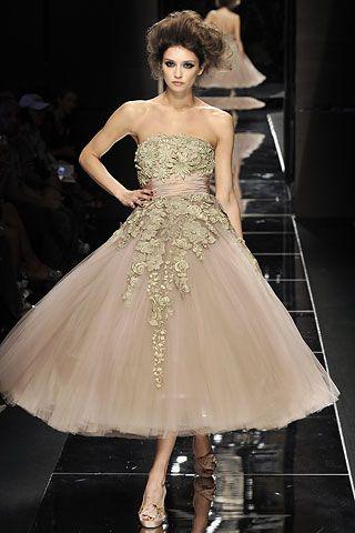Elie Saab - stunning!: Teas Length Dresses, Wedding Dressses, Fashion Dresses, Couture Gowns, Wedding Dresses, Fall 2008, Elie Saab Couture, Haute Couture, Elie Saab Fall