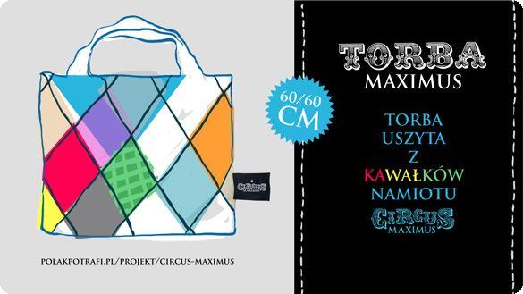 Genialna torba, uszyta z kawałków namiotu cyrkowego, do zgarnięcia w projekcie CIRCUS MAXIMUS   reż. Bartek Kulas!  Projekt: http://polakpotrafi.pl/projekt/circus-maximus?utm_source=pin  #gadżet #crowdfunding #crowdfundingpl