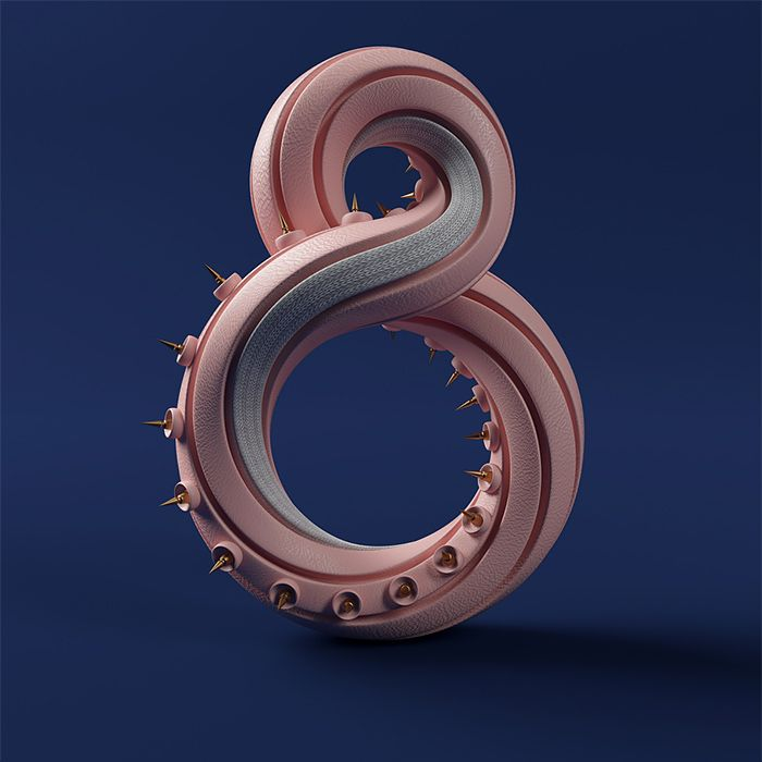 Numbers: 3D Typography by RDN Studio | Inspiration Grid | Design Inspiration