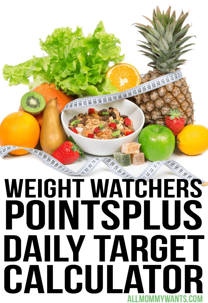 Free Weight Watchers PointsPlus Daily Target Calculator   All Mommy Wants