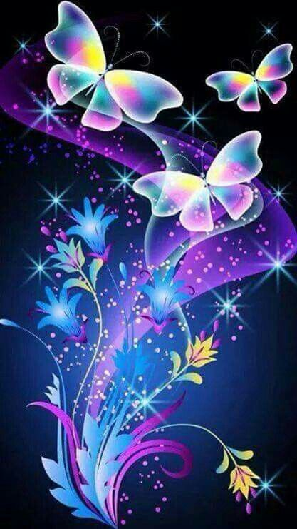 157 best images about Wallpapers neon on Pinterest ...3d Neon Butterflies
