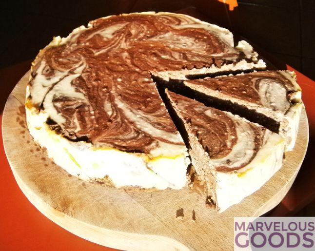 Tort marmorat cu ciocolata si branza de vaci  #cake #cheesecake #chocolate