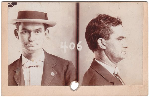Metropolitan Police Department, Kansas City, Montana, USA, 1901 Bertillon Identity Card, 3 x 5 ins. (8 x 12.5 cm) © Fine Vernacular Photography