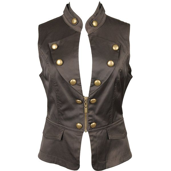 Troop Military Vest ($30) ❤ liked on Polyvore featuring outerwear, vests, tops, jackets, women, military vest fashion, vest waistcoat, military vest, forever 21 vest and forever 21