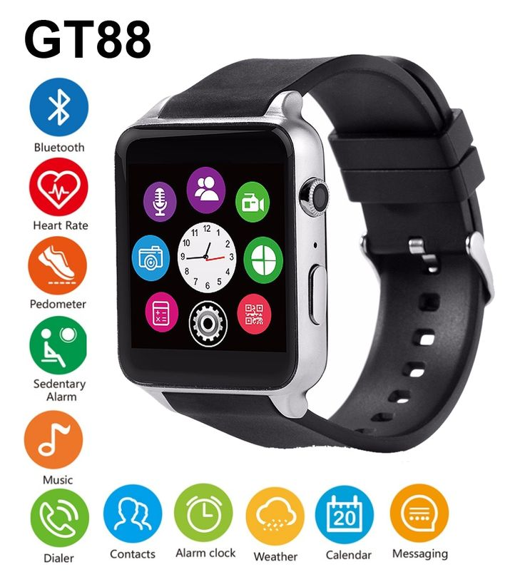 39.08$  Watch more here - http://aijnq.worlditems.win/all/product.php?id=32738714334 - GT88 Bluetooth Smart Watch Waterproof Heart Rate Sleep Monitor Support TF/SIM Card Smartwatch for iPhone 5s 6s 7 for Samsung S7