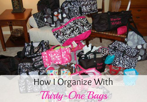 How I Organize With Thirty-One Bags | Organize 365 #Org31