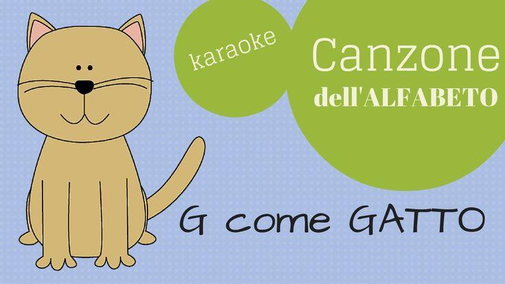 La canzone dell'alfabeto italiano (KARAOKE)   Italiano per bambini con A...