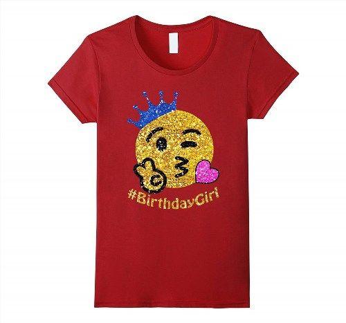 19.95$  Buy here - http://viwcm.justgood.pw/vig/item.php?t=bgh48t31369 - birthday emoji shirt for girls with crown Women