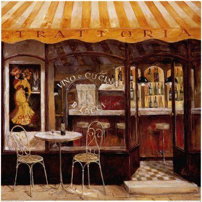 Italian Cafe Paintings Italian Cafe Cafes Pinterest
