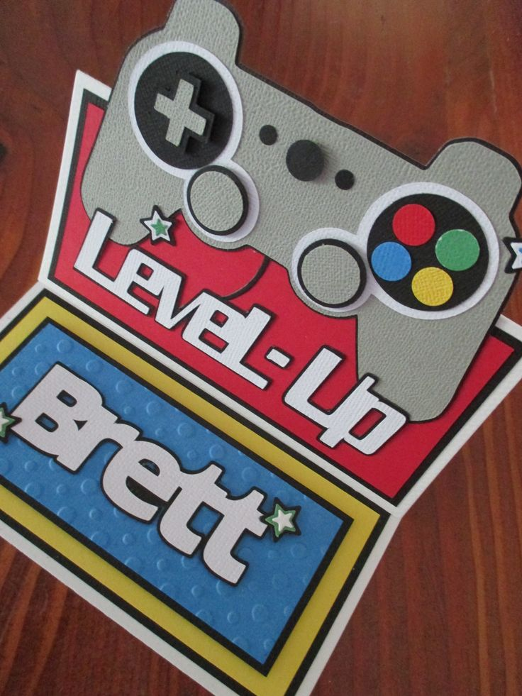 Playstation Gamer Birthday Card - LEVEL UP!!