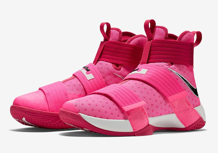 """The Nike LeBron Soldier 10 returns in a """"Think Pink"""" colorway to benefit Breast Cancer Survivors under the Kay Yow charity. Releasing later this summer."""
