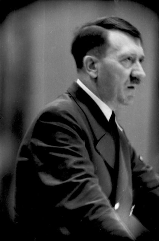 Hitler addresses an audience around the time of the Battle of Stalingrad, Sept-Dec 1942. The strain of things going terribly wrong is beginning to show.