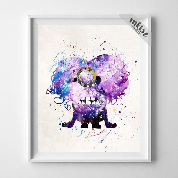Despicable Me Print, Purple Minion Poster, Evil Minions Print, Watercolor Art, Illustration, Nursery Room Decor, Christmas Gift, Wall Art. PRICES FROM $9.95. CLICK PHOTO FOR DETAILS.#inkistprints #watercolor #watercolour #giftforher #homedecor #wallart #walldecor #poster #print #christmas #christmasgift #weddinggift #nurserydecor #mothersdaygift #fathersdaygift #babygift #valentinesdaygift #painting #dorm #decor #livingroom #bedroom