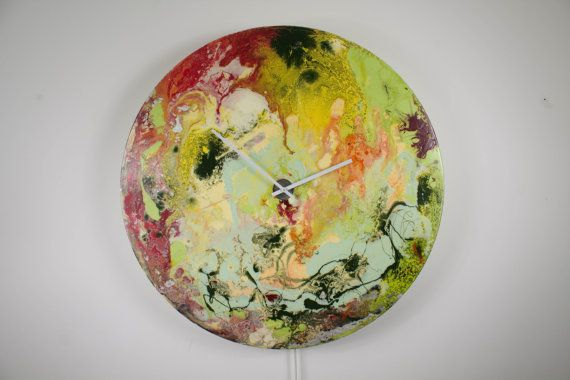 Large Circular Wall Art Large Circular Wall Light Wall Clock Glass Wall Art Modern Wall Light Abstract Lighting Red Yellow Greenuk by ReformationsUK from Reformations.co.uk by Craig Anthony. Find it now at http://ift.tt/29s8z46!