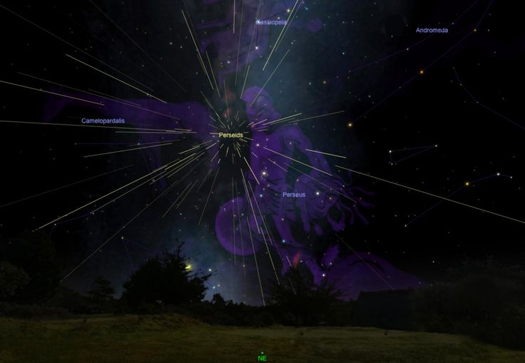 Picture of a sky chart showing Perseus constellation