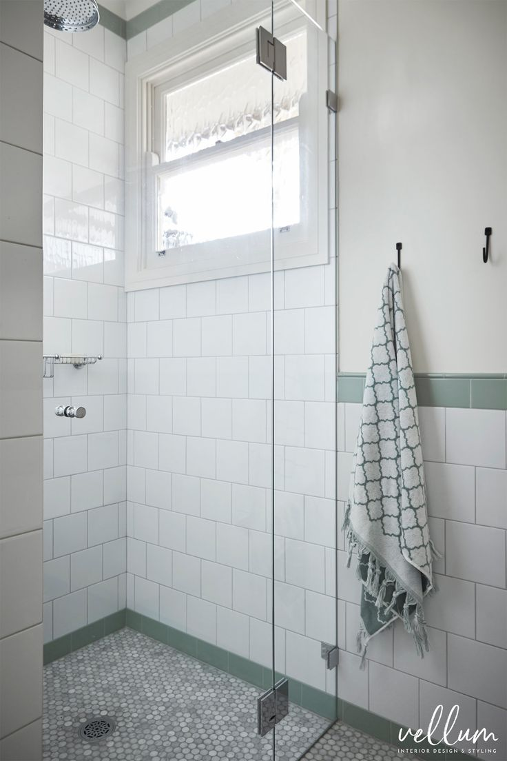 53 best olde english tiles i bathroom tiles images on pinterest the shower in the main bath using sage subway tiles marble penny round tiles and dailygadgetfo Gallery