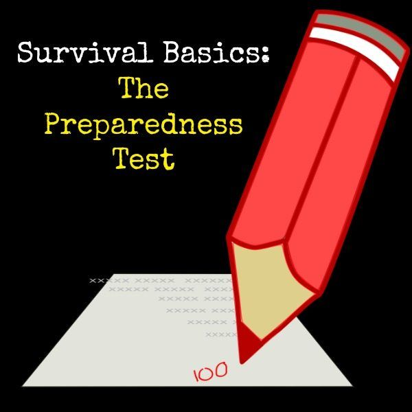 A preparedness test will help you assess how well you are doing in meeting your prepping goals. Take the test and download a free preparedness manual.  Survival Basics Preparedness Test | Backdoor Survival