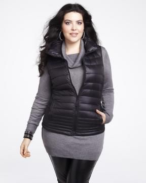 sleeveless quilted down vest $100