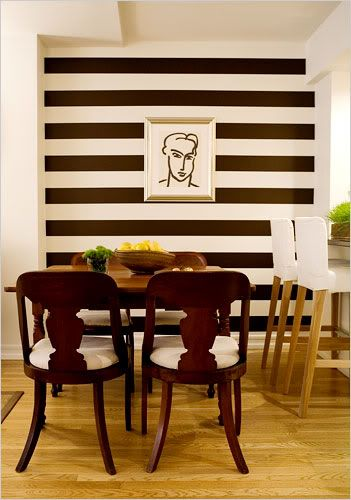 Temporary Wall Treatment Ideas For Renters Dark Brown Vinyl Strips