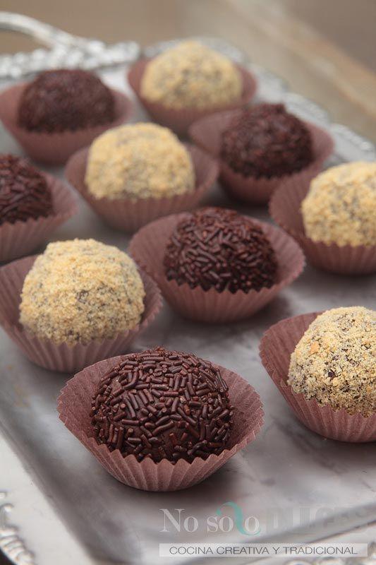 No solo dulces - Trufas de chocolate con leche condensada