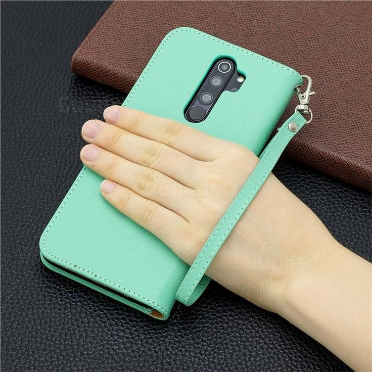 Classic Luxury Litchi Leather Phone Wallet Case For Mi Xiaomi Redmi Note 8 Pro Green Xiaomi Redmi Note 8 Leather Phone Case Wallet Wallet Case Phone Wallet