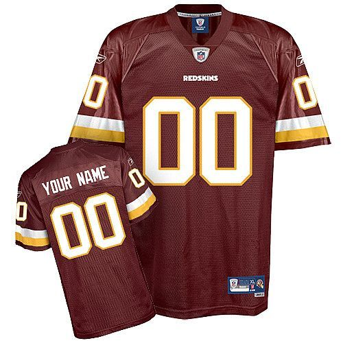 timeless design dea92 98e12 Redskins Personalized Authentic Red NFL Jersey (S-3XL ...
