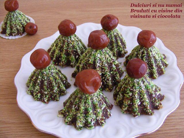 Dulciuri si nu numai: Bilute/braduti cu visine din visinata si ciocolata