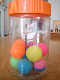 Here's a terrific idea for using a jar of bouncy balls to show how particles move in different states of matter.